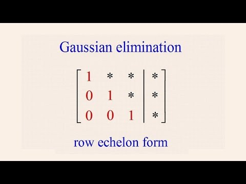 Algebra 54 - Gaussian Elimination