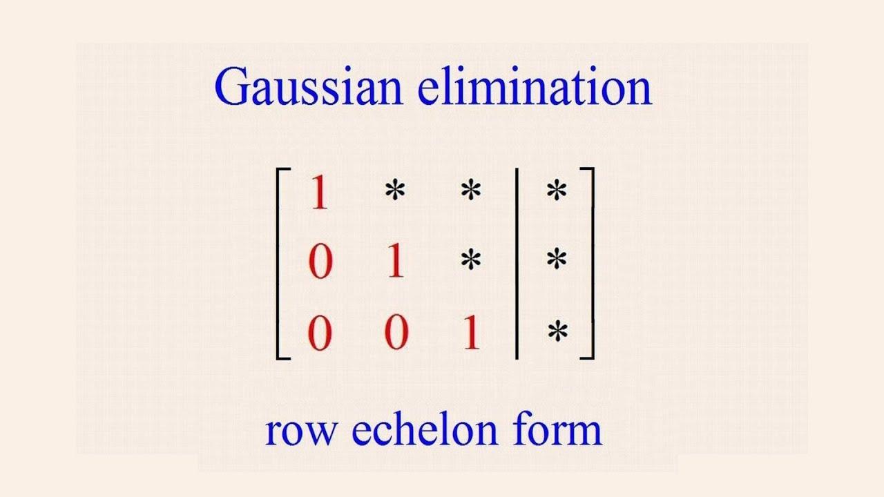 algebra 54 gaussian elimination youtube
