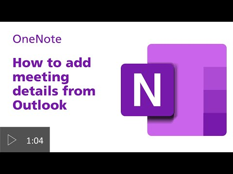 Adding meeting details to OneNote page.