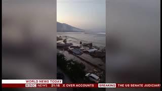 Download Video tsunami palu menjadi berita utama di seluruh media luar negri MP3 3GP MP4