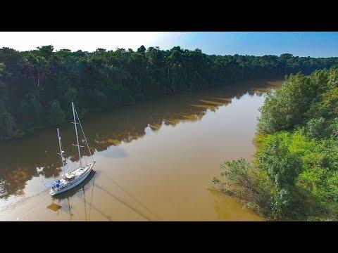 Our SAILBOAT up a South American Jungle River!? - Sailing Vessel Delos Ep. 194