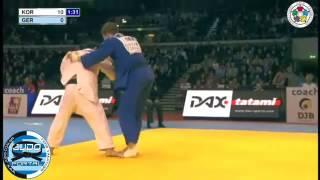 Judo Grand Prix Dusseldorf 2012 -100kg HWANG Hee-Tae (KOR)-PFEIFFER (GER)