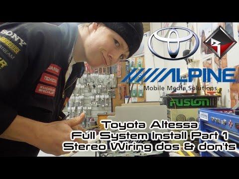 Toyota Altezza Full System Install Part 1/4: Stereo Install Shinnannagginnss
