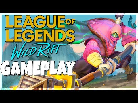 LEAGUE OF LEGENDS WILD RIFT GAMEPLAY New Mobile League EXCLUSIVE FOOTAGE & My Thoughts