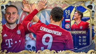 OMG! TOTY LEWANDOWSKI 98 SQUAD BUILDER BATTLE 💀😱😱 FIFA 21