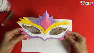 How to make a venetian mask with paper | Catival mask making | Art for kids