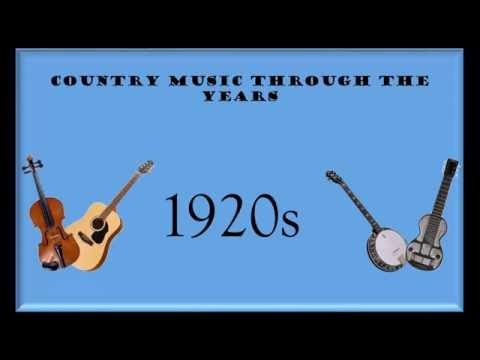 Country Music Through The Years: 1920s