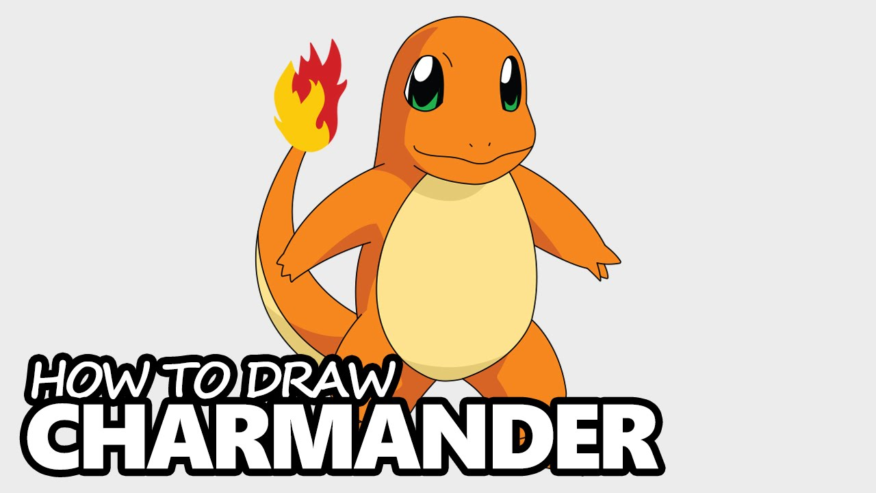 how to draw charmander from pokemon easy step by step video