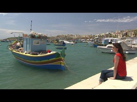Marsaxlokk fishing village, Malta  - Getaways BBC1 NI