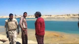 أعمال الحفر والتكريك فى قناة السويس الجديدة تحت حراسة الجيش 23مارس 2015