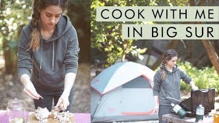Cook Dinner With Me in Big Sur! Vegan Zero Waste Camping | Alli Cherry