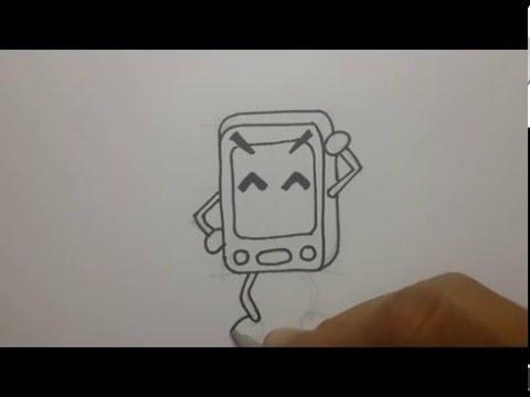 วาดการ์ตูน รูปโทรศัพท์มือถือ เล่นกัน หัดวาดการ์ตูน
