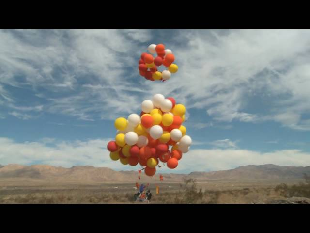 Man Flies Over 15 Miles In C&ing Chair Tied To 100 Balloons | Otis | 94.9 THE BULL & Man Flies Over 15 Miles In Camping Chair Tied To 100 Balloons | Otis ...