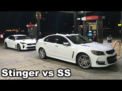 Kia Stinger GT vs Chevy SS (street race)
