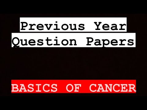 Basics Of Cancer   Previous Year Question Paper    AMITY UNIVERSITY