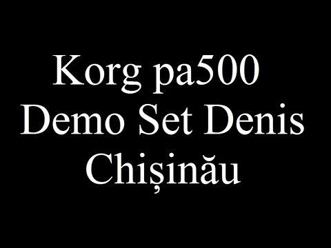 Korg pa500 Demo Denis