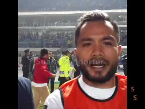 Suasana Mencekam usai laga Persib Bandung vs PSM Makasar