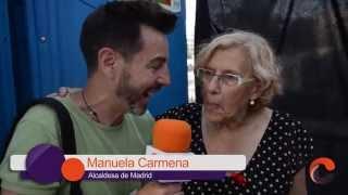 Manuela Carmena y Pablo Iglesias en el Orgullo 2015 de Madrid
