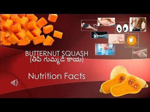 Nutrition Facts about Butternut squash