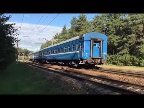 [LDz - БЧ] Minsk → Riga Express train passes Dārziņi station.