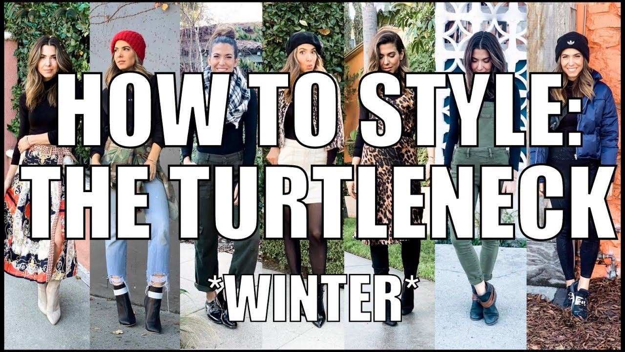 7 Ways to Style a TURTLENECK! - Winter Outfit Ideas- by Orly Shani 1