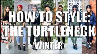 7 Ways to Style a TURTLENECK! - Winter Outfit Ideas- by Orly Shani