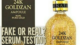 how to | testing | the fake serum | honest review about the serum| 24k goldzan serum