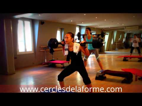 squats cours body pump cercles de la forme paris estelle youtube. Black Bedroom Furniture Sets. Home Design Ideas