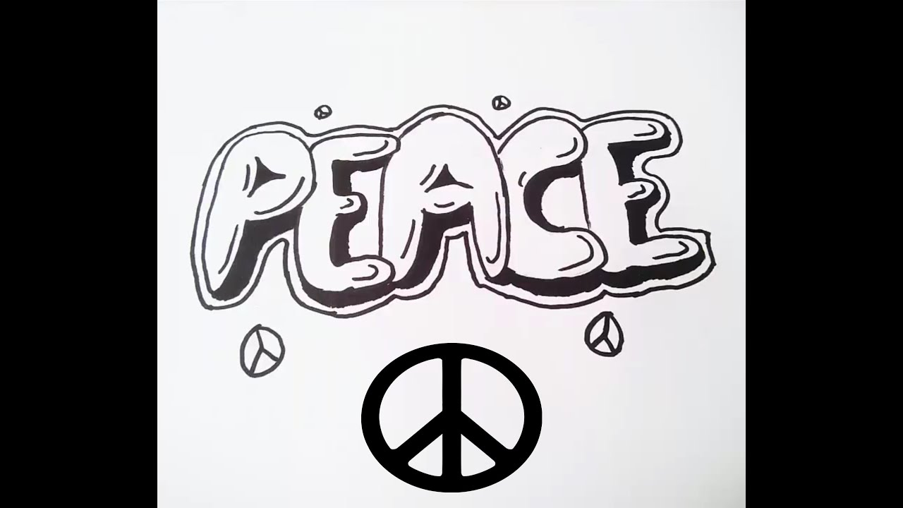 peace ka t graffitisi paper graffiti   youtube