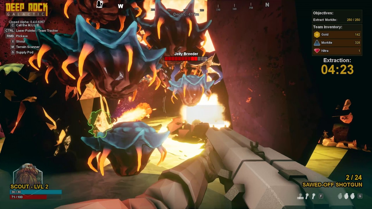 Image result for Deep Rock Galactic gameplay