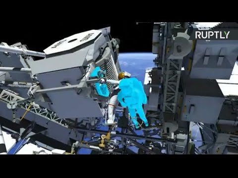 Astronauts Parmitano and Morgan perform spacewalks to repair ISS spectrometer [STREAMED LIVE]
