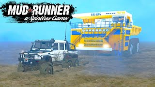 Гелик 6х6 против Tesla Cybertruck #2 - SpinTires: MudRunner