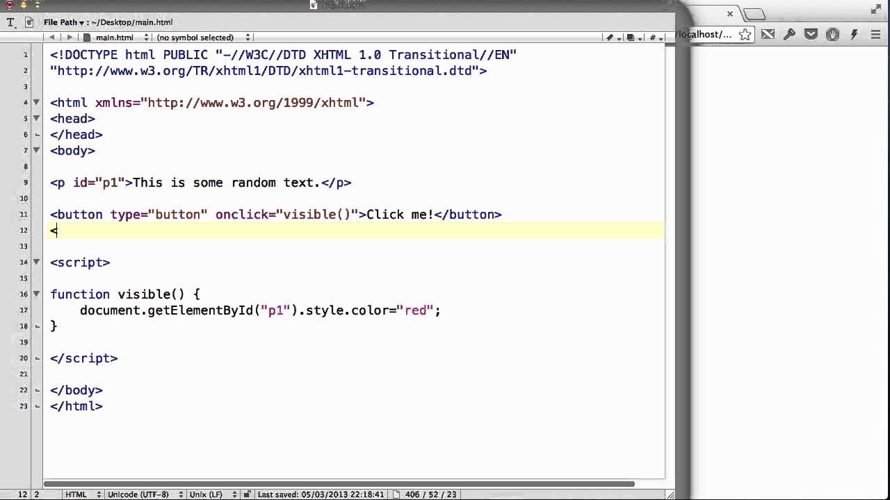 JavaScript - 26  Changing CSS using JavaScript