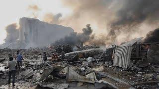 انفجار بيروت - اليوم الاول بعد الانفجار