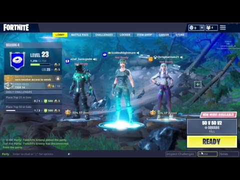 Will Fortnite let me play this time? Chilling and being bad at video games