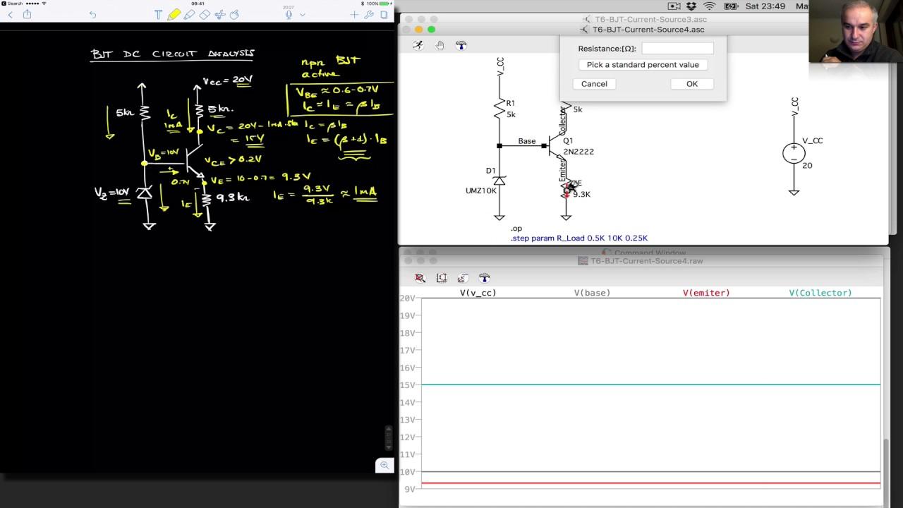 Bjt Circuits With Zener Biasing Current Source Youtube Volt Regulator Using Dioda Simple Schematic Diagram
