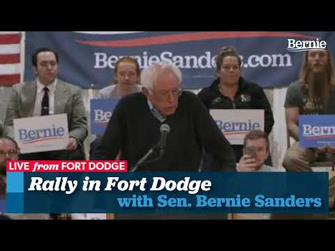 Bernie Hosts Town Meeting in Fort Dodge, Iowa