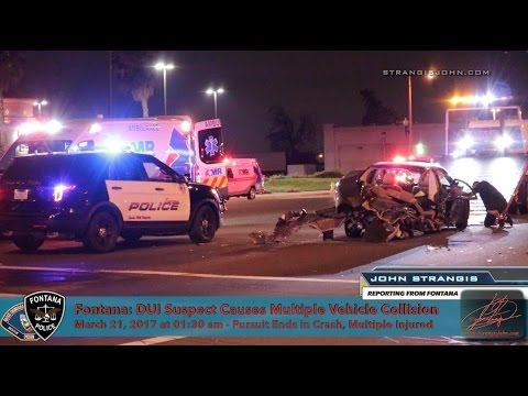 DUI Driver Causes Multiple Vehicle Crash in Fontana