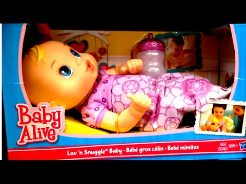 Baby Alive Luv N Snuggle Baby Youtube