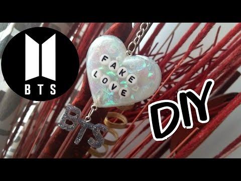 BTS »FAKE LOVE« KPOP / DIY LLAVERO CON RESINA