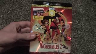 Disney Pixar The Incredibles 2 4K Ultra HD Blu-Ray Unboxing