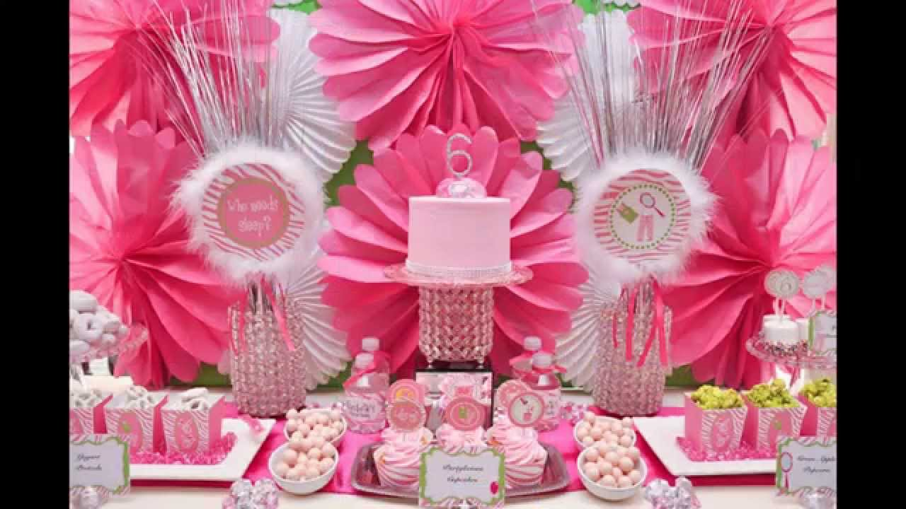 Cute Girls birthday party decorations ideas - YouTube