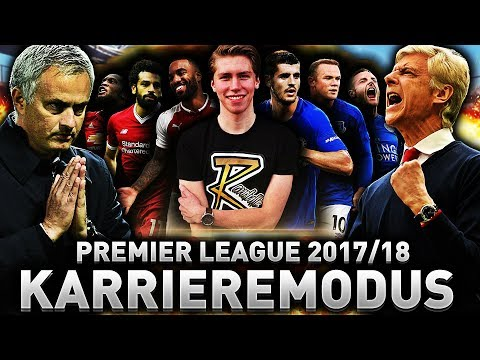 MIN PREMIER LEAGUE 2017/18 PREDICTION MED KARRIEREMODUS!! 🏆💥