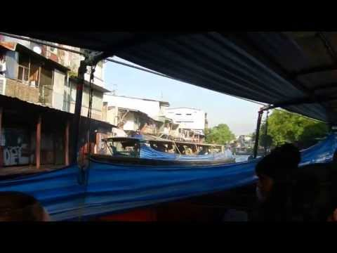Bangkok Thailand Canal Ferry Boat 2013 (In Boat), Part 5