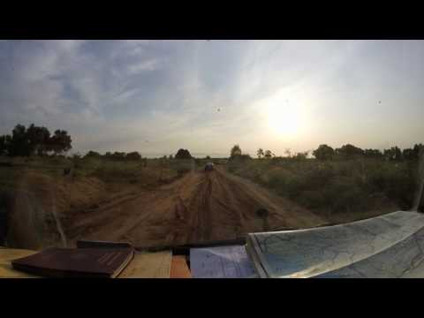 Sandpist in DRC after border from Cabinda