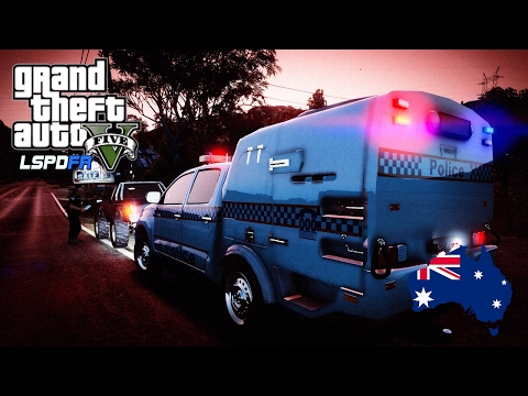 GTA 5 Australian Police Mod - Rural QPS Paddy Wagon Patrol (Play GTA V as a cop mod for PC) #OZGTA
