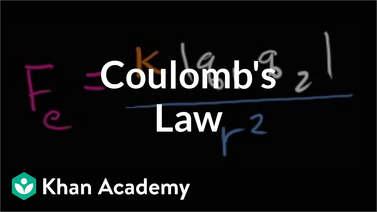 Coulomb's Law (video) | Khan Academy