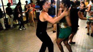 Salsa Dancers Nery Garcia & Ranjani Venkatesan- Social Dancing at Goa, India 2014