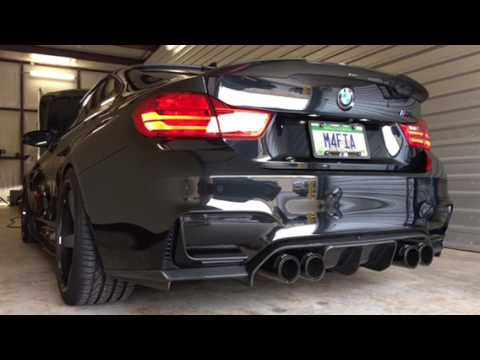 BMW M4FIA M4 With Insane Loud Deep Exhaust Note With Burbles Overrun Start Up Sequence