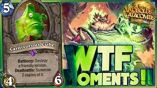 Hearthstone - WTF Moments - Kobolds and Catacombs - Funny and lucky Rng Moments